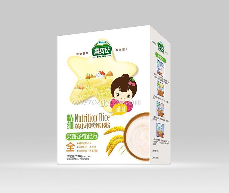 精细黄小米营养米果蔬多维配方盒装