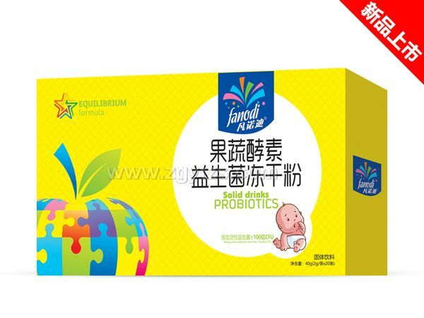 果蔬酵素益生菌冻干粉盒装
