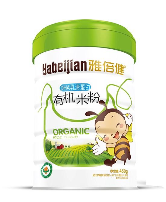 雅倍健有机米粉为辅食期的宝宝提供均衡全面的营养呵护