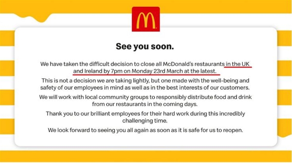 全球闭店潮连Zara、H&M、优衣库、麦当劳也关了!