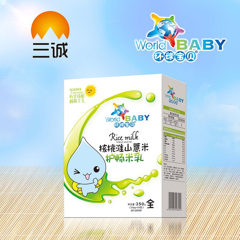 环球宝贝核桃淮山薏米盒装