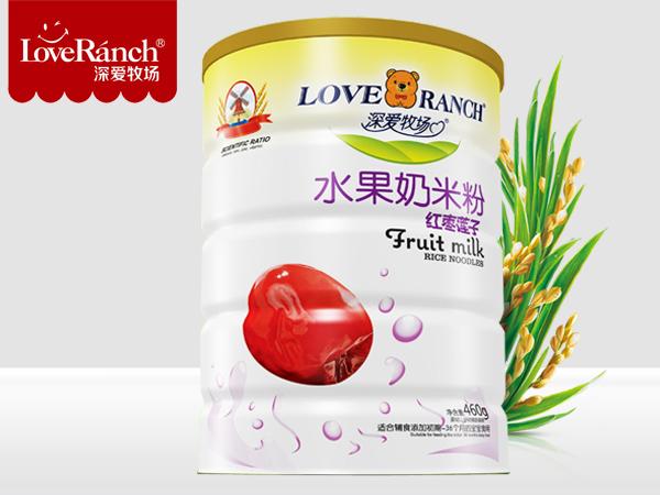 红枣莲子―水果奶米粉