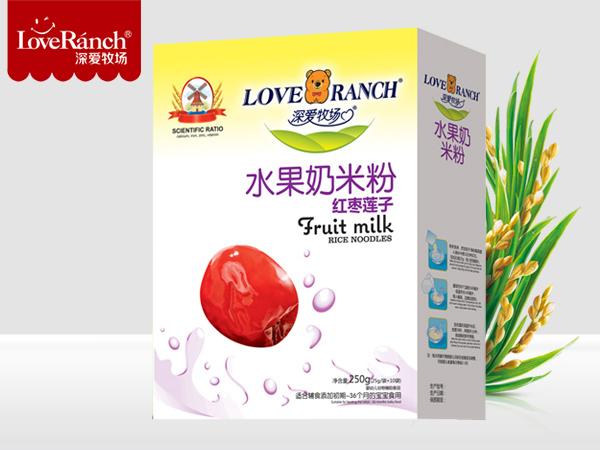 红枣莲子―水果奶米粉盒装
