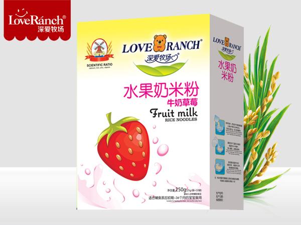 牛奶草莓―水果奶米粉盒装