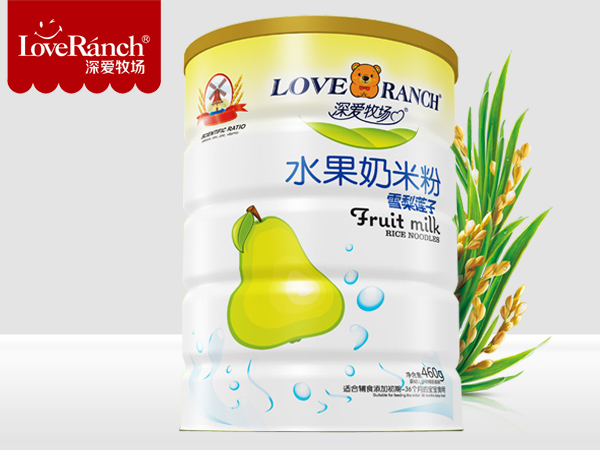 雪梨莲子―水果奶米粉