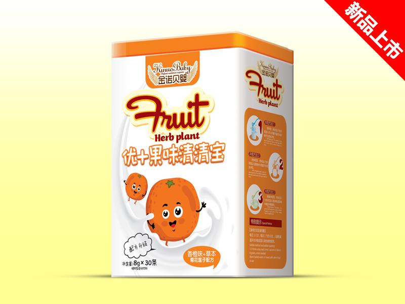 金诺贝婴优果味清清宝香橙味