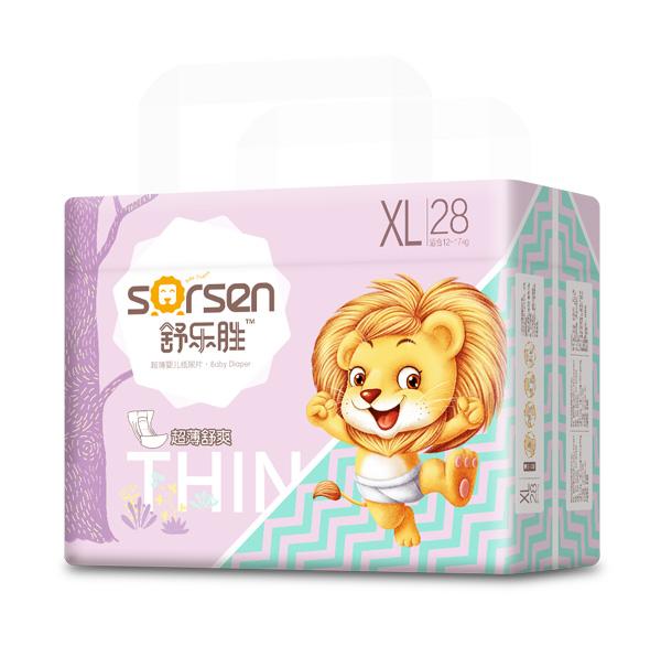 舒乐胜超薄婴儿纸尿片小包XL28