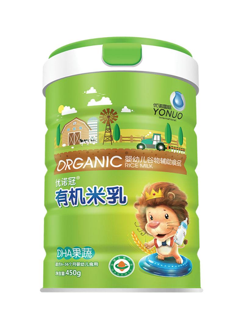 优诺冠DHA果蔬有机米乳